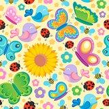 Spring theme seamless background 1