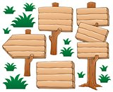 Wooden signboard theme image 2