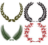 Laurel wreath and honors