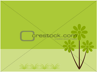 Abstract plant background