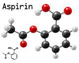aspirin molecule
