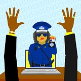 Virtual woman police