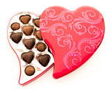 Red Heart Chocolate Tin