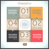 Infographic design - original paper tag