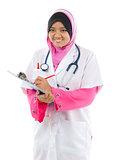 Muslim Asian medical student