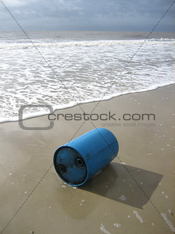 Oil drum on beach