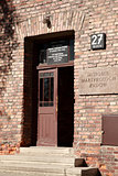Doorway of Block 27, Auschwitz