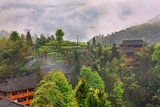 Dazhai village (Dragon's Backbone Rice Terraces).