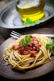 Pasta with tomato sauce