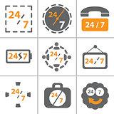 24x7 icon set