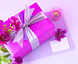 Pink gift box