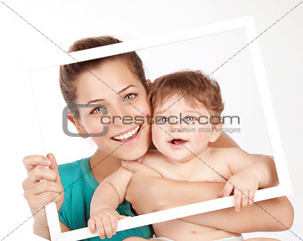 Lovely mom with baby boy