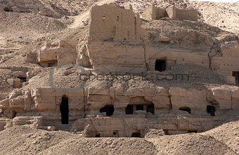 rock cut tombs near Aswan