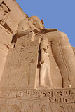 sculptures at Abu Simbel temples in Egypt