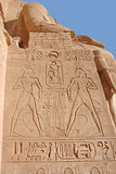 relief at the Abu Simbel temples
