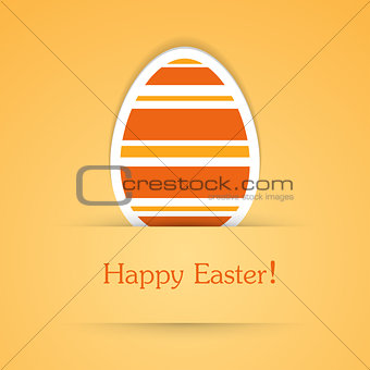 Happy easter attach sticker.