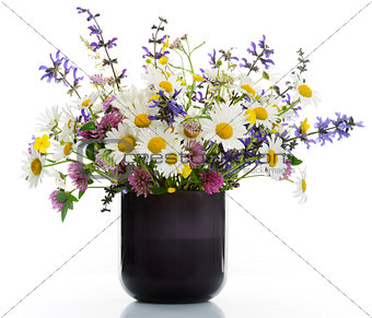 vase with wildflowers