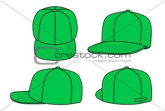 Green cap for rapper