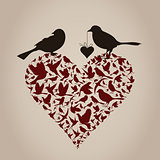 Bird on heart