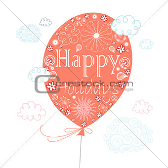 greeting card with a balloon