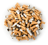 Cigarette butts isolated