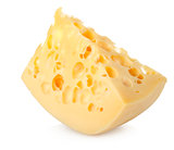 Dutch swiss cheese isolated