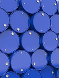 Oil Barrels Stacked Up.