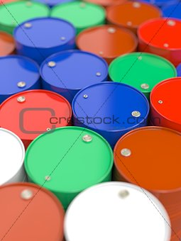 Oil Barrels.