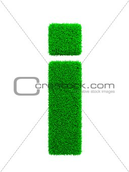 Grass Letter Isolated on White.