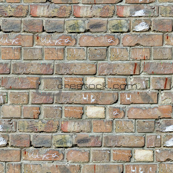 Grey Brick Wall Texture.