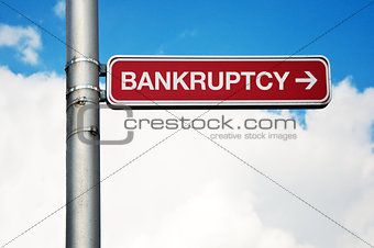 Street sign - bankruptcy
