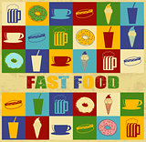 Fast food vintage poster