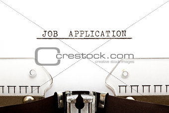 Job Application Typewriter