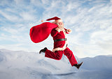 Running Santa Claus