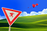 Cupid road sign