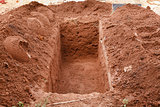 Open grave