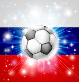 Russian soccer flag