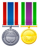 Military style medals