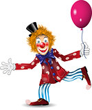 cheerful clown