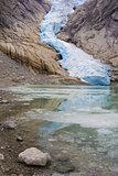 Melkevollbreen Glacier, Jostedalsbreen National Park, near Brigs