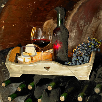 wine still life, Biza winery, Cejkovice, Czech Republic