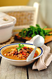 Kidney Bean and Walnut Soup
