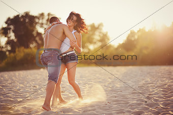 Heterosexual Couple on the beach
