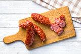 sliced pork sausage