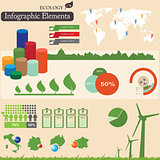 Infographics elements. Ecology 