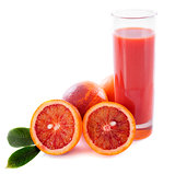 blood orange and juice