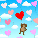 teddy bear with a balloon
