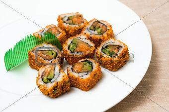 fresh sushi japanese food