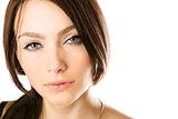 Closeup portrait of a beautiful young woman