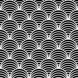 Seamless geometric pattern in &quot;fish scale&quot; design. 